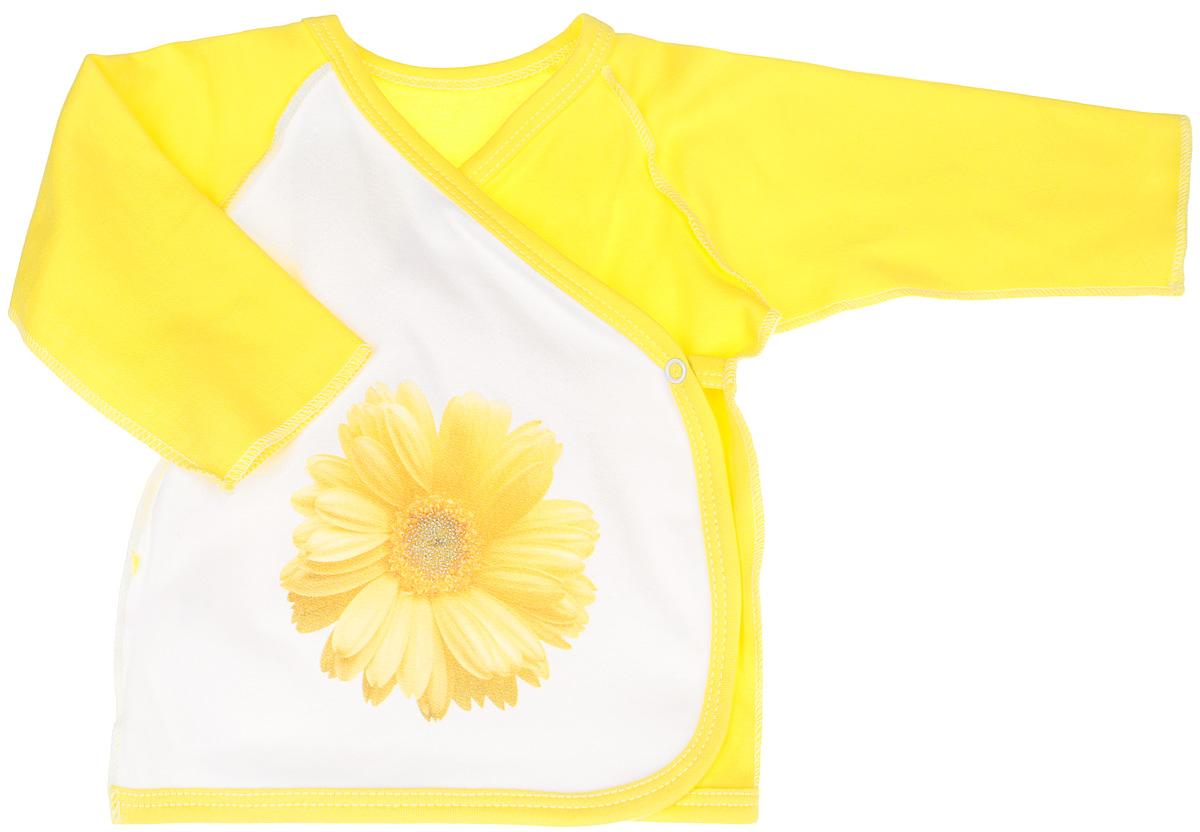 4162Распашонка-кимоно для девочки КотМарКот послужит идеальным дополнением к гардеробу вашей крохи, обеспечивая ей наибольший комфорт. Распашонка, выполненная швами наружу, изготовлена из натурального хлопка - интерлока, благодаря чему она необычайно мягкая и легкая, не раздражает нежную кожу ребенка и хорошо вентилируется, а эластичные швы приятны телу младенца и не препятствуют его движениям. Распашонка-кимоно с длинными рукавами-реглан оформлена цветком с блеском. Благодаря системе застежек-кнопок по принципу кимоно модель можно полностью расстегнуть. Распашонка полностью соответствует особенностям жизни ребенка в ранний период, не стесняя и не ограничивая его в движениях. В ней ваша малышка всегда будет в центре внимания.