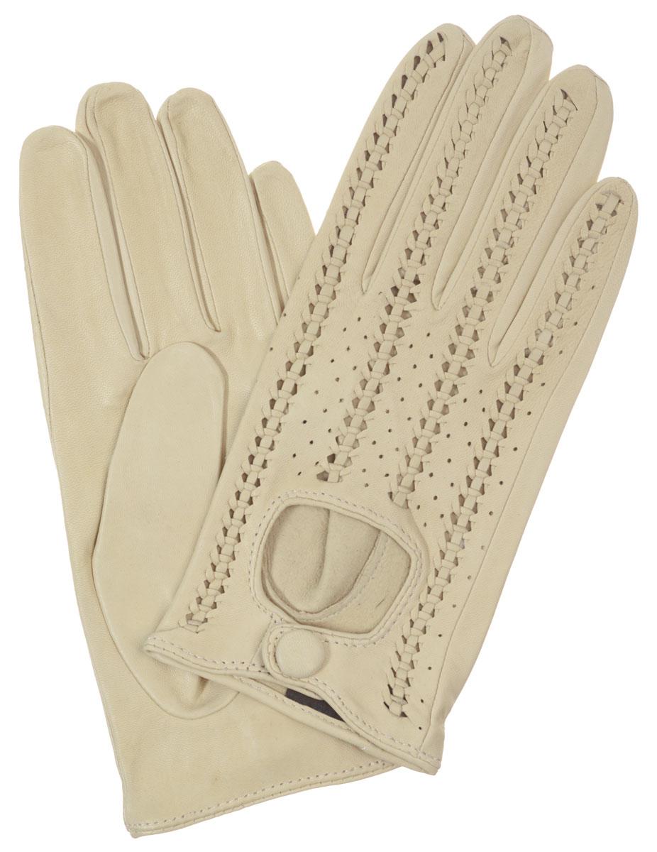 ПерчаткиIS783Стильные женские перчатки Eleganzza выполнены из необыкновенно мягкой и приятной на ощупь кожи ягненка. Лицевая сторона декорирована плетением. Манжета с вырезом застегивается на металлическую кнопку, обтянутую кожей. Перчатки станут идеальным аксессуаром, дополняющим ваш стиль и неповторимость в современном мире моды.