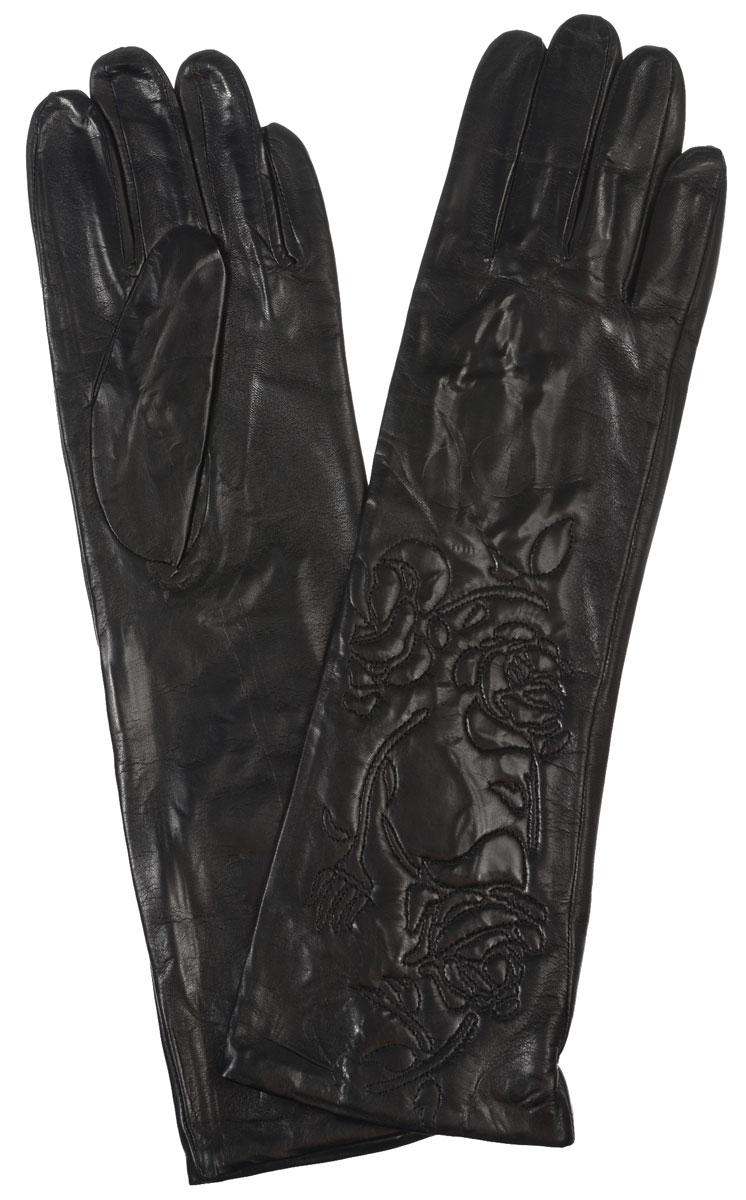 Длинные перчаткиIS1291-shЭлегантные удлиненные женские перчатки Eleganzza станут великолепным дополнением вашего образа и защитят ваши руки от холода и ветра во время прогулок. Перчатки выполнены из натуральной кожи ягненка. Модель декорирована вышитыми розами. Такие перчатки будут оригинальным завершающим штрихом в создании современного модного образа, они подчеркнут ваш изысканный вкус и станут незаменимым и практичным аксессуаром.