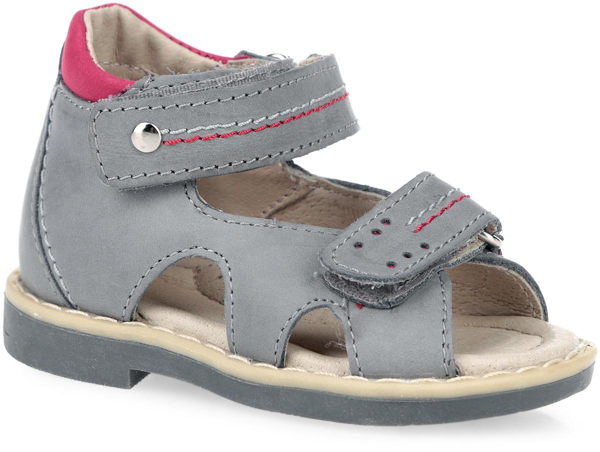 Сандалии для мальчика. 10586-1010586-10Прелестные сандалии от Зебра очаруют вашего малыша с первого взгляда! Модель выполнена из натуральной высококачественной кожи и оформлена декоративной прострочкой. Полужесткий закрытый задник и ремешки на застежках-липучках обеспечивают оптимальную посадку обуви на ноге, не давая ей смещаться из стороны в сторону и назад. Стелька из натуральной кожи дополнена супинатором с перфорацией, который обеспечивает правильное положение ноги ребенка при ходьбе, предотвращает плоскостопие. На подошве размещена система амортизаторов, уменьшающих травматизм суставов при ходьбе и беге. Специальная ортопедическая подошва обеспечивает достаточное, но не чрезмерное сгибание. Ортопедический каблук Томаса (Thomas Heel) укрепляет подошву под средней частью стопы и препятствует ее заваливанию внутрь. Стильные сандалии поднимут настроение вам и вашему ребенку!
