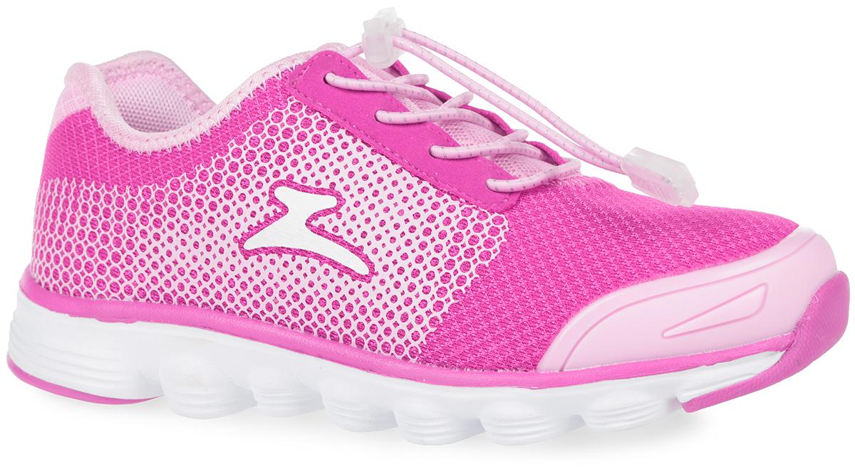 Кроссовки для девочки. 10172-910172-9Модные кроссовки от Зебра очаруют вашу девочку с первого взгляда! Модель выполнена из дышащего текстиля со вставками из искусственной кожи и оформлена сбоку фирменным логотипом. Эластичная шнуровка со стоппером гарантирует оптимальную посадку обуви на ножке вашей дочурки. Усиленный мыс для более надежной защиты. Анатомическая профилированная стелька способствует правильному формированию скелета и анатомических сводов детской стопы, правильной установке пятке ребенка. Перфорация на стельке позволяет ножкам дышать. Подошва имеет высокую естественную способность к сцеплению с любой поверхностью за счет особой формы и рельефа. Эффектные кроссовки приведут в восторг вашу маленькую модницу!