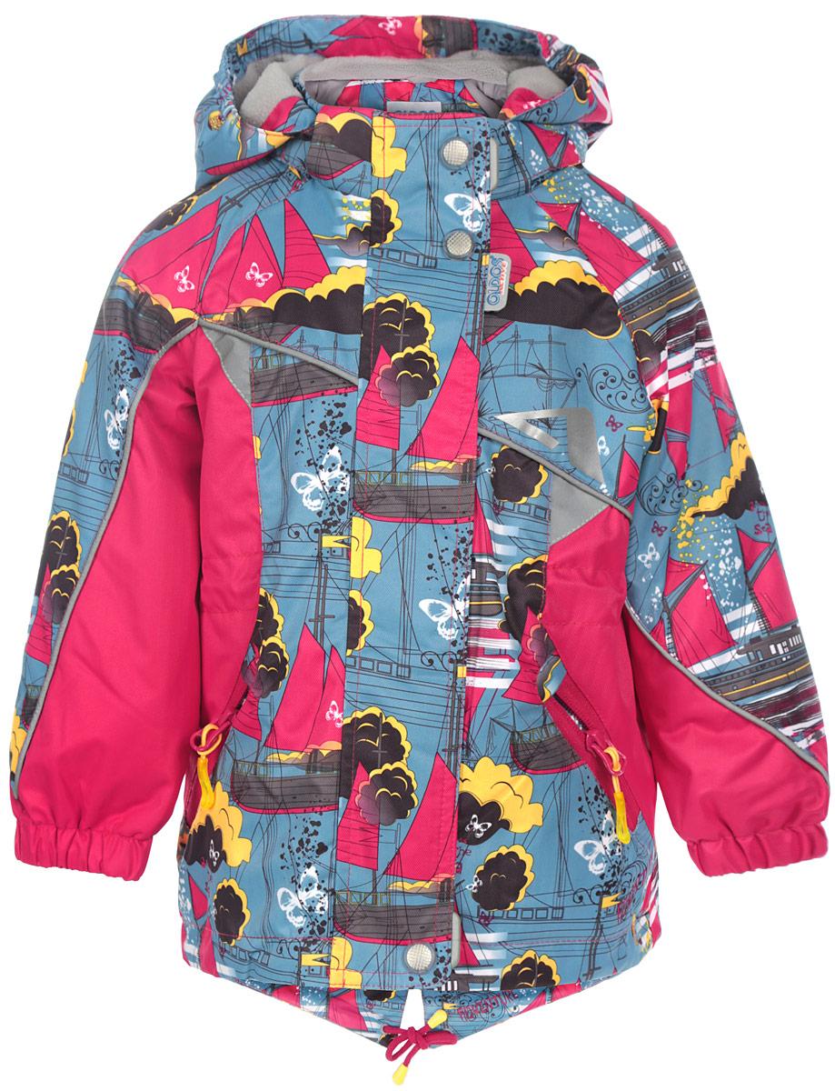 Куртка для девочки Ассоль. 16/OA-3JK40416/OA-3JK404Куртка для девочки Oldos Active Ассоль идеально подойдет для вашего ребенка в холодное время года. Куртка изготовлена из водонепроницаемой и ветрозащитной ткани. Водо- и грязеотталкивающее покрытие Teflon повышает износостойкость модели, что обеспечит ей хороший внешний вид на всем протяжении носки. Благодаря пропитке грязь не проникает в ткань, и ее легко смыть под струей воды или стереть влажной салфеткой. Нанесенная с изнаночной стороны ткани мембрана 3000/3000 позволяет дышать - отводит излишнюю влагу наружу, поддерживая комфортную для тела ребенка атмосферу. Куртка рассчитана на температуру от -5°С до +15°С благодаря утеплителю 80 г/м2. В качестве наполнителя используется полиэстер. Куртка с капюшоном и небольшим воротником-стойкой застегивается на пластиковую застежку-молнию и дополнительно имеет двойную ветрозащитную планку и защиту подбородка. Внешний ветрозащитный клапан на застежках-кнопках и липучках. Подкладка курточки (кроме рукавов) выполнена из теплого мягкого...