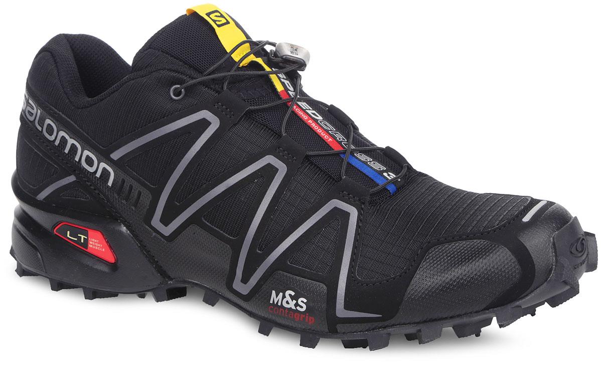 Кроссовки женские для бега Speedcross 3. 327845327845Легендарные беговые кроссовки от Salomon Speedcross 3 выполнены из высококачественной искусственной кожи и текстиля. Конструкция верха Sensifit с пропиткой Mudguard не пропускает грязь и воду. Подъем оформлен шнуровкой с фиксатором, благодаря которой обувь сидит плотно на ноге, и дополнен кармашком для шнурков. Стелька Ortholite из ЭВА материала с текстильным верхним покрытием создает более прохладное и сухое пространство под стопой. Мягкая верхняя часть и подкладка, изготовленная из текстиля, обеспечивают дополнительный комфорт и предотвращают натирание. По бокам модель декорирована оригинальным принтом и тиснением, язычок дополнен текстильной нашивкой с символикой бренда. Светоотражающие элементы обеспечат лучшую видимость в темное время суток. Подошва Contagrip не оставляет следов и обеспечивает отличное сцепление со скользкой поверхностью. Такие кроссовки займут достойное место в коллекции вашей спортивной обуви.