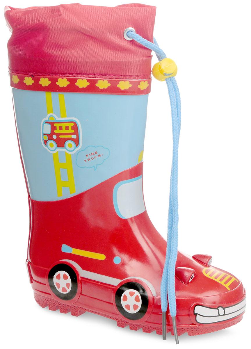 Сапоги резиновые для мальчика. 10250-1910250-19Утепленные резиновые сапоги от Зебра - идеальная обувь в холодную дождливую погоду для вашего мальчика. Модель, выполненная из качественной резины, оформлена по верху принтом и декоративными элементами, имитирующими машину, в области пятки - логотипом бренда. Текстильный верх голенища регулируется в объеме за счет шнурка с фиксатором. Подкладка из искусственного меха, подарит ощущение комфорта и тепла вашему ребенку. Съемная стелька из EVA с поверхностью из текстиля комфортна при движении. Подошва с протектором обеспечивает сцепление с любыми поверхностями. Резиновые сапожки - незаменимая вещь в дождливую погоду!