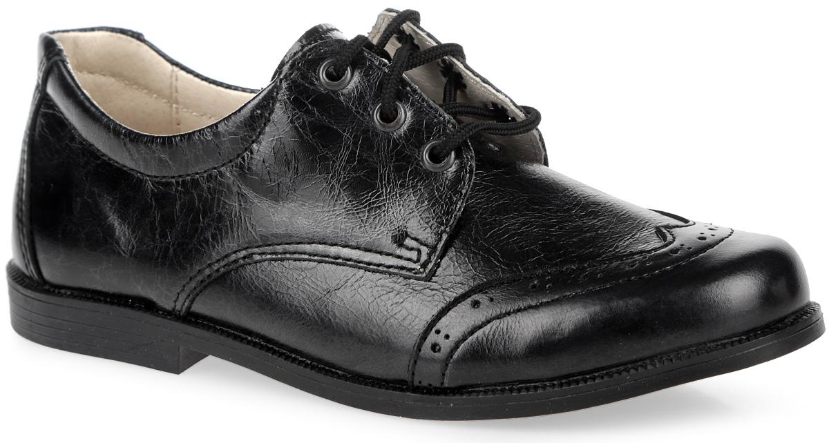 Туфли для мальчика. 14-417-114-417-1Стильные туфли от компании Скороход покорят вашего мальчика с первого взгляда! Модель выполнена из натуральной кожи и оформлена перфорацией. Функциональная шнуровка удобно фиксирует обувь на ножке малыша. Внутренняя часть и стелька из натуральной кожи комфортны при ходьбе. Супинатор с перфорацией обеспечивает правильное положение стопы и предотвращает плоскостопие. Подошва имеет гладкую поверхность. Удобные туфли - незаменимая вещь в гардеробе каждого ребенка. Стильные туфли от компании Скороход покорят вашего мальчика с первого взгляда! Модель выполнена из натуральной кожи и оформлена перфорацией. Функциональная шнуровка удобно фиксирует обувь на ножке малыша. Внутренняя часть и стелька из натуральной кожи комфортны при ходьбе. Супинатор с перфорацией обеспечивает правильное положение стопы и предотвращает плоскостопие. Подошва имеет гладкую поверхность. Удобные туфли - незаменимая вещь в гардеробе каждого ребенка.