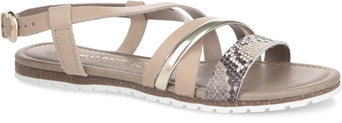 2-2-28615-26-301Оригинальные женские сандалии от Marco Tozzi заинтересуют вас своим дизайном. Модель изготовлена из натуральной кожи и оформлена пересекающимися ремешками. Передний ремешок оформлен принтом под рептилию. Ремешок с металлической пряжкой прочно зафиксирует изделие на ноге. Мягкая стелька из искусственной кожи комфортна при ходьбе. Подошва с рифлением обеспечивает отличное сцепление с поверхностью. Модные сандалии внесут изюминку в ваш модный образ.