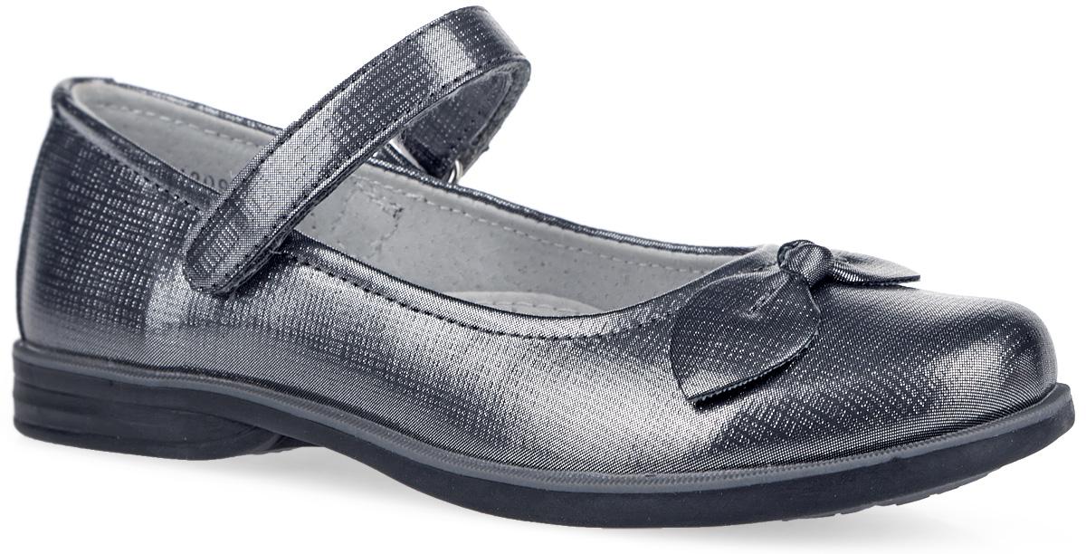 164209Элегантные туфли от Scool придутся по душе вашей юной моднице! Модель на невысоком широком каблучке изготовлена из искусственной кожи и оформлена на мыске милым бантиком. Ремешок на застежке-липучке предназначен лучшей фиксации обуви на ноге. Подкладка и стелька с супинатором из натуральной кожи, обеспечивающая правильное формирование стопы, гарантируют дополнительный комфорт и предотвращают натирание. Подошва оснащена рифлением для лучшей сцепки с поверхностью. Чудесные туфли займут достойное место в гардеробе вашего ребенка.