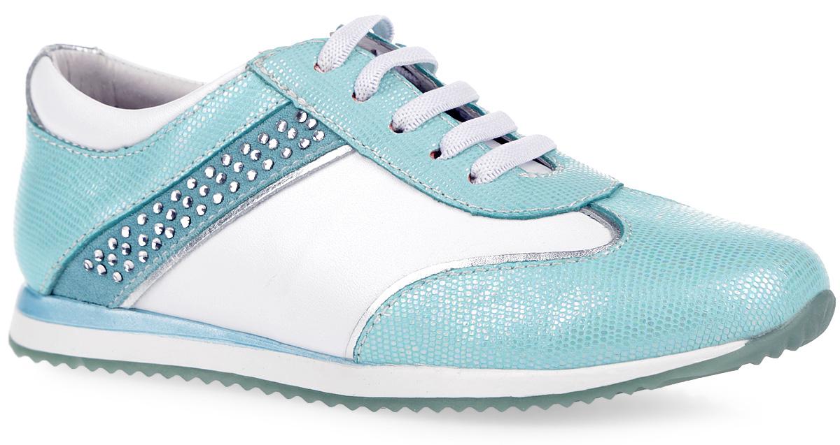 Кроссовки для девочки. 23285-223285-2Стильные кроссовки от Kapika придутся по душе вашему ребенку! Модель, выполненная из натуральной кожи, декорирована стразами. Подкладка, изготовленная из натуральной кожи, обеспечивает дополнительный комфорт и предотвращает натирание. Стелька с супинатором, выполненная из натуральной кожи, обеспечивает максимальную устойчивость ноги при ходьбе и правильное формирование стопы. Застежка-молния гарантирует надежную фиксацию на ноге. Прочная подошва, выполненная из полимерного термопластичного материала, оснащена рифлением для лучшего сцепления с поверхностью. Чудесные кроссовки займут достойное место в гардеробе вашего ребенка.