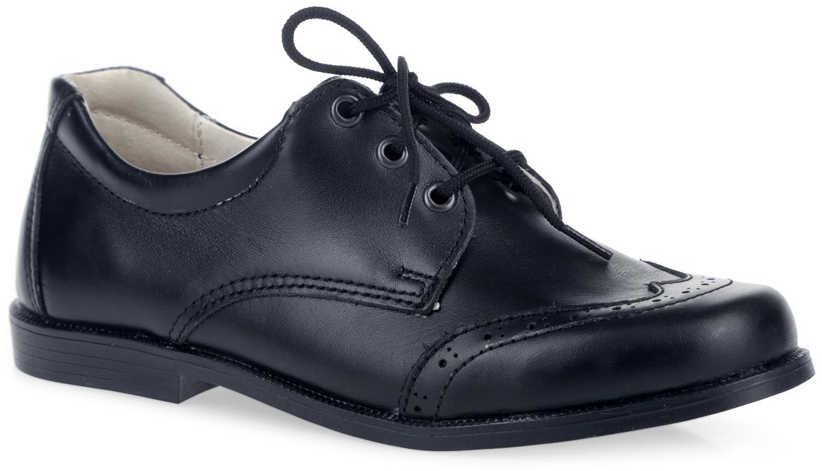 Туфли для мальчика. 14-417-414-417-4Стильные туфли от компании Скороход покорят вашего мальчика с первого взгляда! Модель выполнена из натуральной кожи и оформлена перфорацией. Функциональная шнуровка удобно фиксирует обувь на ножке малыша. Внутренняя часть и стелька из натуральной кожи комфортны при ходьбе. Супинатор с перфорацией обеспечивает правильное положение стопы и предотвращает плоскостопие. Подошва имеет гладкую поверхность. Удобные туфли - незаменимая вещь в гардеробе каждого ребенка.