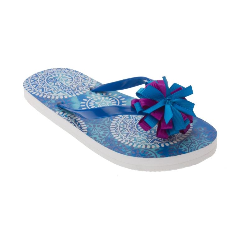 Пантолеты для девочки. 164201164201Легкие и удобные пантолеты для девочки. Украшены цветочком. Гибкая и мягкая резиновая подошва с рифлением обеспечивает дополнительное удобство.