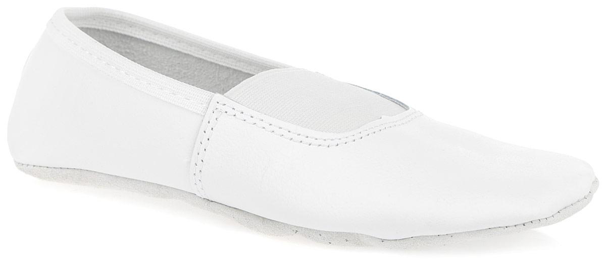 Чешки детские. 41064106Детские чешки от Скороход предназначены для занятий танцами и гимнастики. Модель полностью изготовлена из натуральной кожи, благодаря чему впитывает влагу и позволяет коже ног дышать. Стелька из натуральной кожи съемная. Подъем дополнен вставкой из эластичной резинки для лучшего прилегания и фиксации чешек на ноге. Подошва из натуральной кожи предотвращает скольжение.