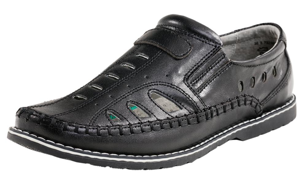 Туфли для мальчика. 732108-21732108-21Полуботинки для мальчика выполнены из натуральной высококачественной кожи. Отсутствие застежек позволяет легко обувать и снимать обувь. Максимально открыта и дополнена декоративным швом, стилизующим модель под мокасины