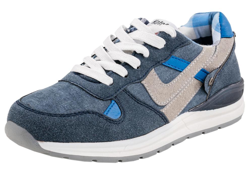 Кроссовки для мальчика. 644106-11644106-11Текстильные кроссовки, при производстве которых используются только натуральные материалы - джинс в сочетании со спилком-велюром. Подкладка – хлопок.