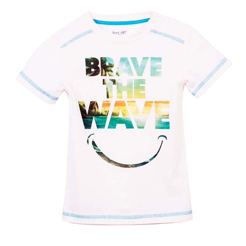 Фуфайка (футболка) для мальчика. ZB 02225-VZB 02225-VУдобная футболка для мальчика, с современным принтом.