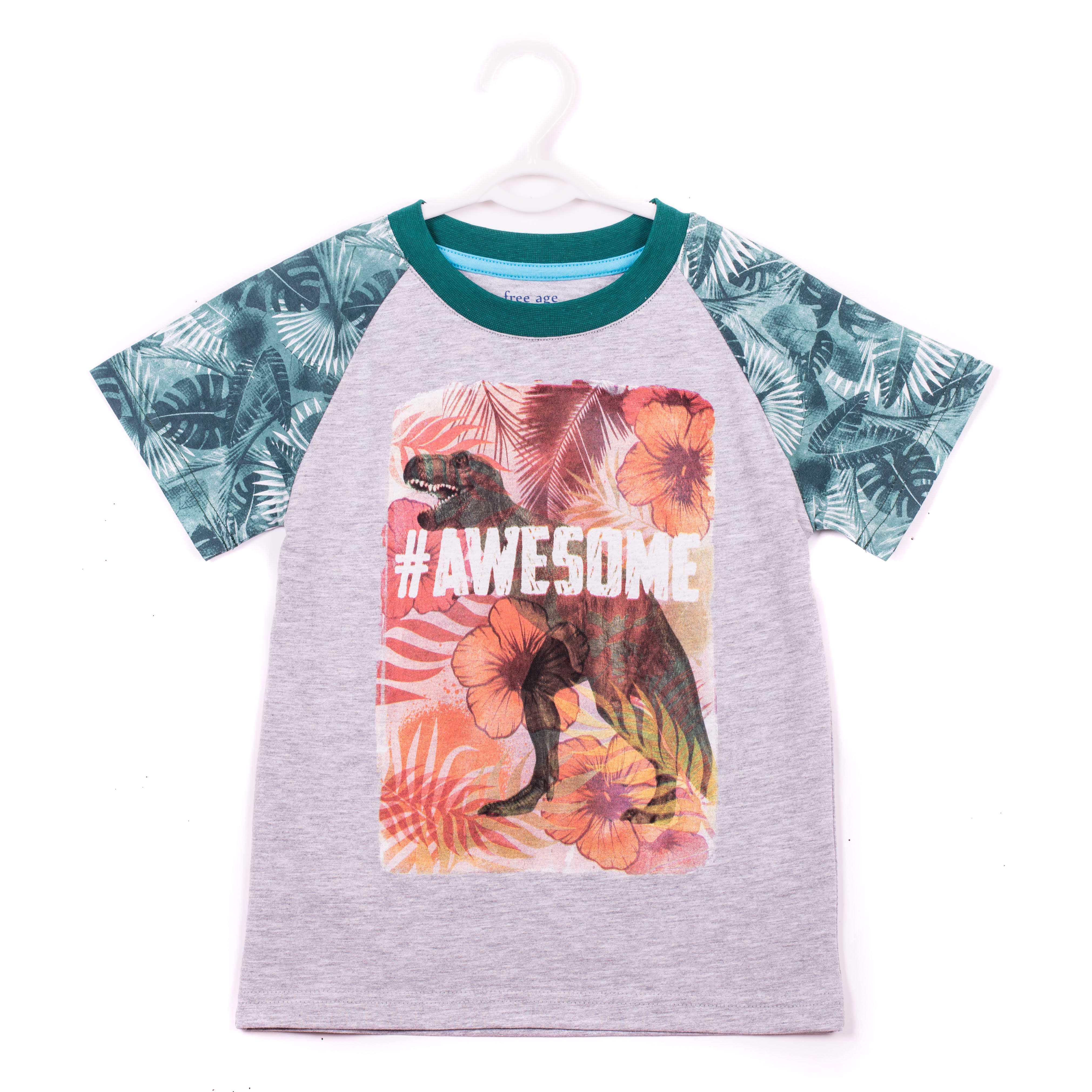 Фуфайка (футболка) для мальчика. ZB 02229-MBZB 02229-MBУдобная футболка для мальчика, с современным принтом.