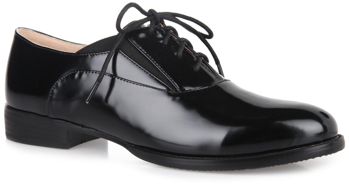 Полуботинки женские. 1153-01-11153-01-1Классические женские полуботинки от Inario покорят вас своим удобством! Модель выполнена из искусственной кожи. Шнуровка надежно зафиксирует обувь. Резинки, расположенные на берцах, обеспечивают оптимальную посадку обуви на ноге. Мягкая стелька из искусственной кожи, оформленная названием бренда, комфортна при движении. Рифление на подошве и на каблуке гарантирует отличное сцепление с любой поверхностью. Удобные и стильные полуботинки - необходимая вещь в гардеробе каждой женщины.