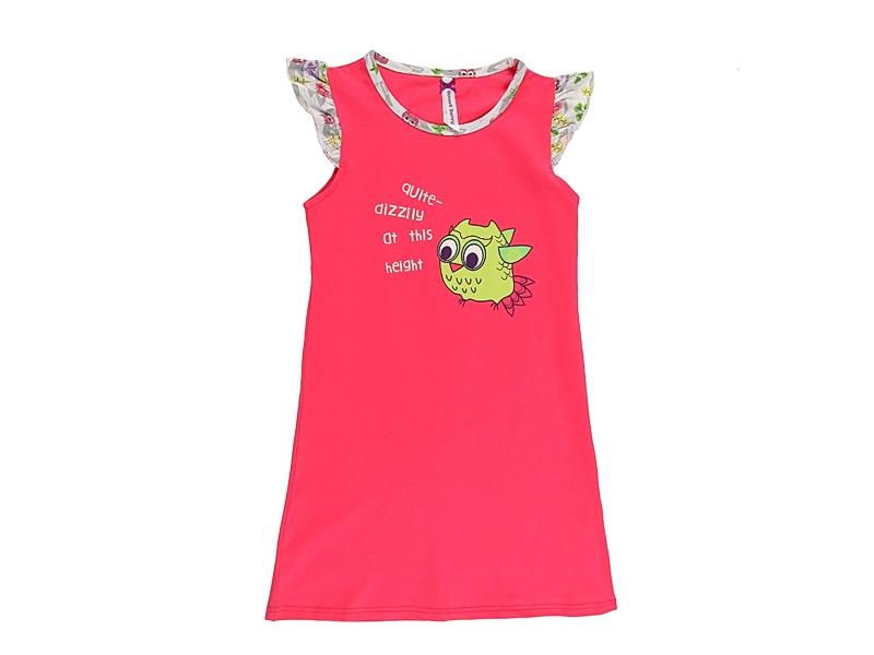 Платье для девочки. 195949195949Ночная рубашка для девочки с ярким принтом