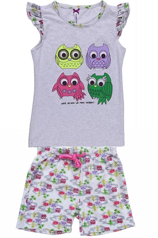 Комплект одежды для девочки. 195946195946Пижама для девочки с майкой и шортами.