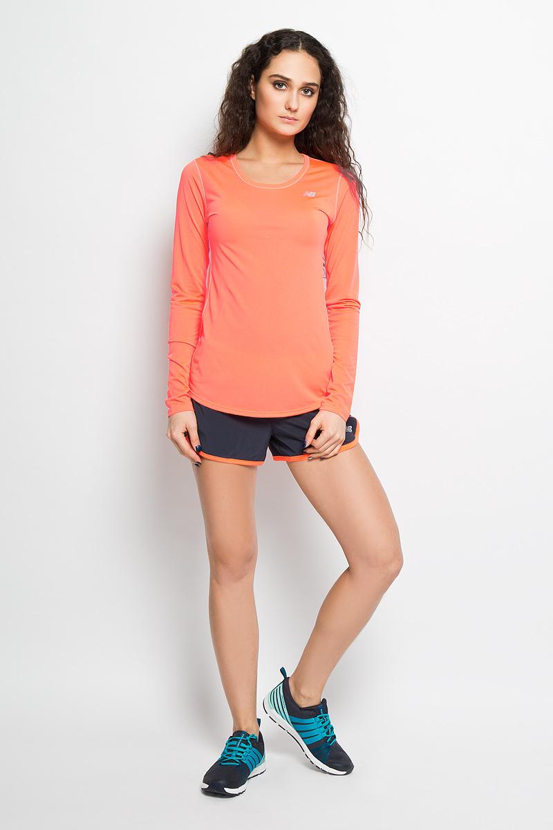 New Balance Лонгслив для бега женский. WT53142