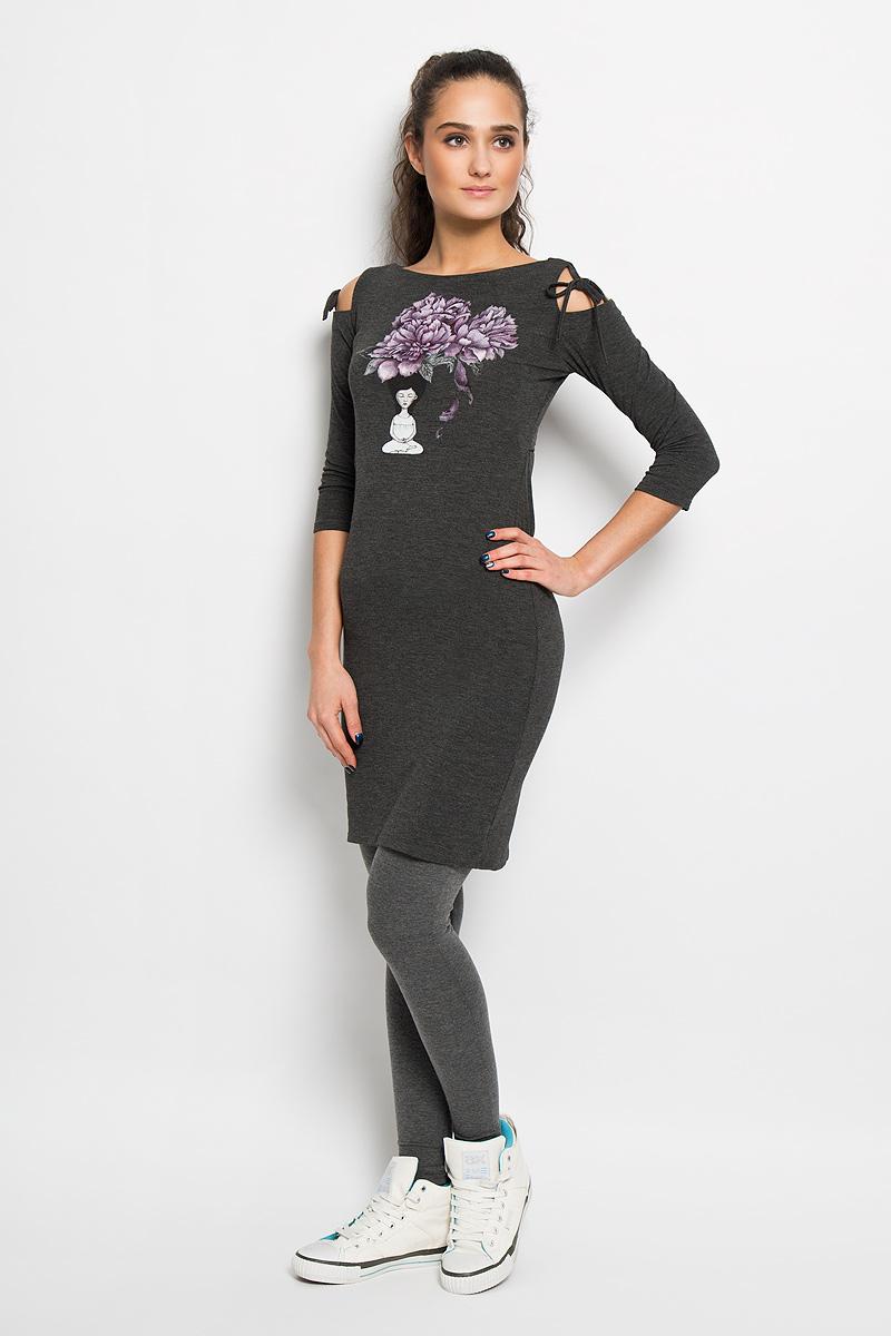 Платье для йоги женское. AL- 2824AL- 2824Спортивное платье Grishko, выполненное из хлопка с добавлением лайкры, идеально подойдёт ля занятия фитнесом или повседневной носки. Модель приталенного кроя с рукавами 3/4 и горловиной с вырезом лодочкой. Платье оформлено красивым цветочный принтом, навеянным духовными практиками и символизирующий восточную мудрость. Спинка формлена эффектным вырезом-качелькой и небольшой термоаппликацией с логотипом Grishko. Рукава дополнены прорезями в плечевом шве и оригинальными завязками. Такая модель станет незаменимой вещью в вашем гардеробе.