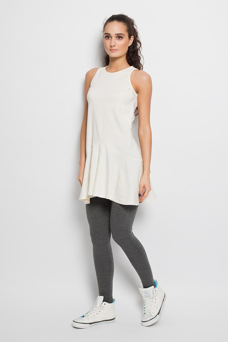 AL- 2766Спортивное платье Grishko, выполненное из хлопка с добавлением лайкры, идеально подойдёт ля занятия фитнесом или повседневной носки. Модель свободного кроя без рукавов и круглым вырезом горловины. Платье оформлено клиновидными вставками и складками по низу изделия. Спинка немного удлинена. На спинке небольшая термоаппликация с логотипом «Grishko». Такая модель станет незаменимой вещью в вашем гардеробе.
