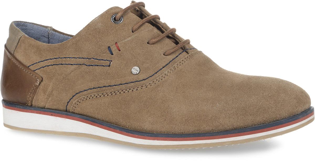 5-5-13202-26-200Модные мужские полуботинки от S.Oliver покорят вас своим удобством. Модель, выполненная из натуральной кожи, оформлена на заднике и на язычке фирменной нашивкой. Подкладка, выполненная из текстиля, и стелька из текстиля и натуральной кожи комфортны при ходьбе. Контрастная шнуровка прочно фиксирует обувь на вашей ноге. Подошва с рифлением гарантирует идеальное сцепление с любыми поверхностями. Стильные полуботинки прекрасно впишутся в ваш гардероб.