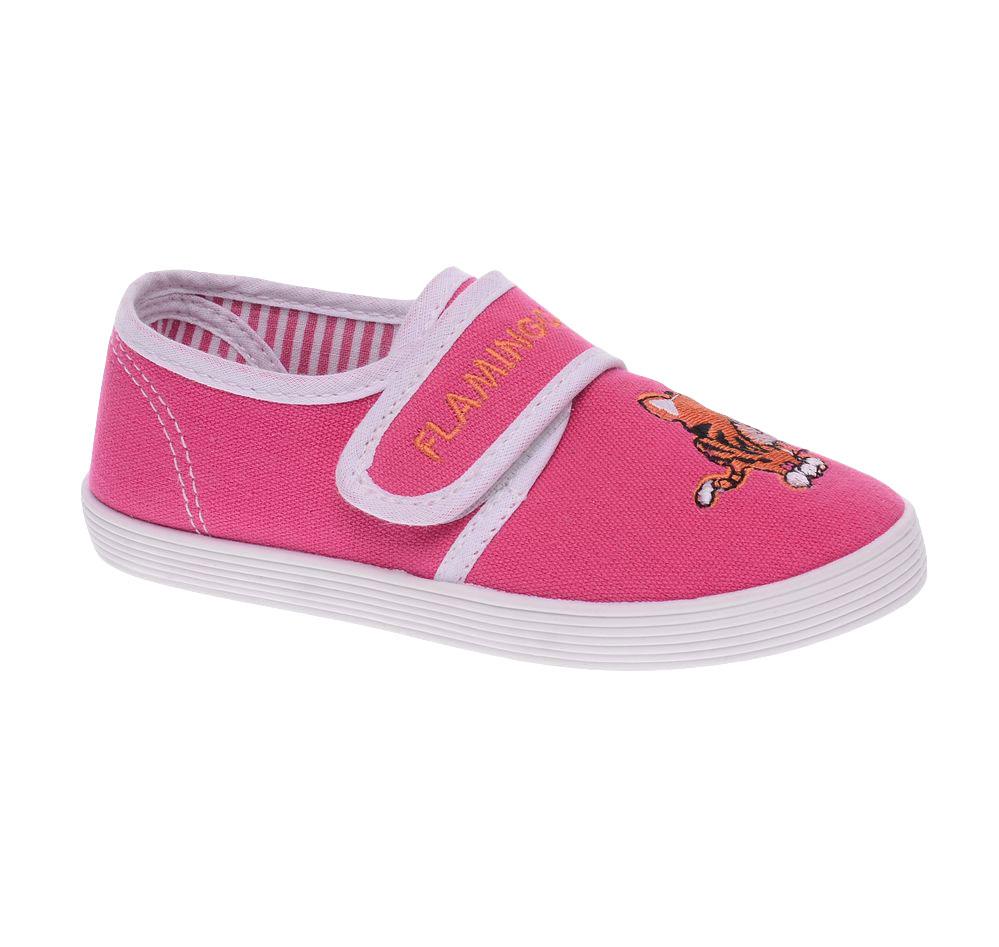 Кеды для девочки. 61-TR10861-TR108Прелестные кеды от Flamingo приведут в восторг вашу малышку! Модель выполнена из плотного текстиля и оформлена на мысе - вышивкой в виде кота. Ремешок на застежке-липучке обеспечивает надежную фиксацию обуви на ножке. Съемная стелька из материала EVA с поверхностью из натуральной кожи комфортна при движении. Подошва с рифлением обеспечивает отличное сцепление с любой поверхностью. Стильные и в то же время удобные кеды - необходимая вещь в гардеробе каждого ребенка.