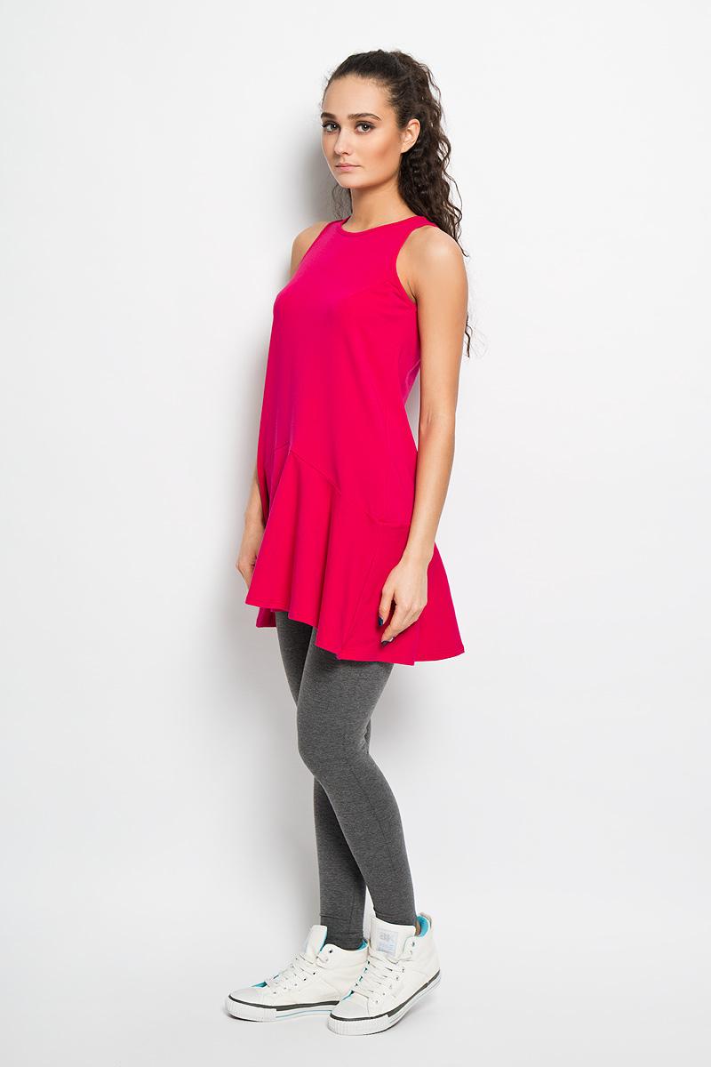 ПлатьеAL- 2766Спортивное платье Grishko, выполненное из хлопка с добавлением лайкры, идеально подойдёт ля занятия фитнесом или повседневной носки. Модель свободного кроя без рукавов и круглым вырезом горловины. Платье оформлено клиновидными вставками и складками по низу изделия. Спинка немного удлинена. На спинке небольшая термоаппликация с логотипом «Grishko». Такая модель станет незаменимой вещью в вашем гардеробе.