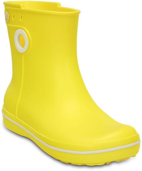 Сапоги резиновые жен. Jaunt Shorty Boot W. 1576915769-410Обновленная модель женских сапог Crocband™ Jaunt - укороченное голенище для еще большей легкости и изящности. Невероятно легкие, мягкие и удобные благодаря фирменному материалу Croslite™. 100% водонепроницаемые, благодаря полностью литой конструкции. Эле