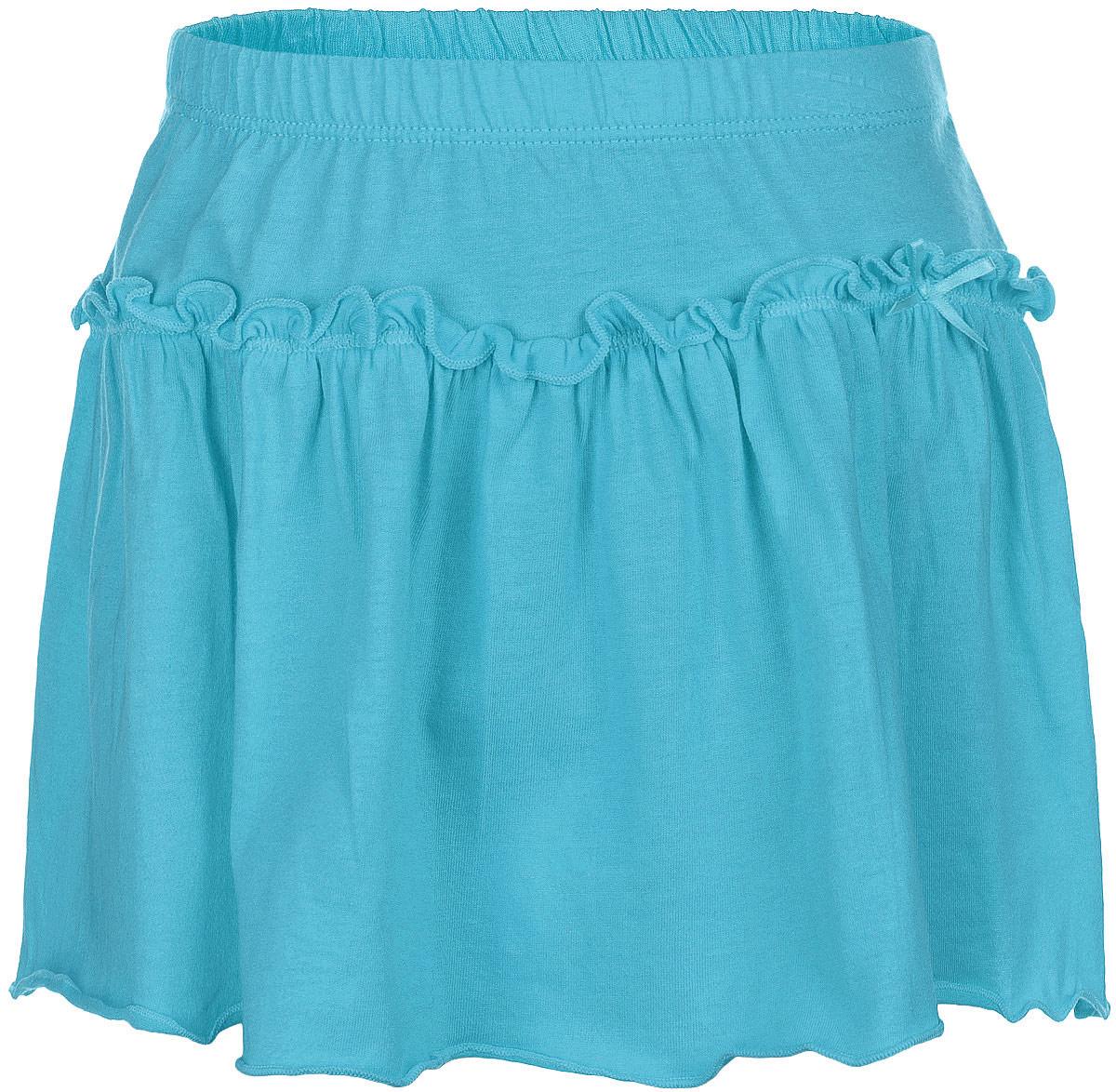 Юбка для девочки. SKk-518/034-6273SKk-518/034-6273Яркая юбка для девочки Sela идеально подойдет вашей моднице и станет отличным дополнением к летнему гардеробу. Изготовленная из натурального хлопка, она мягкая и приятная на ощупь, не сковывает движения и позволяет коже дышать, не раздражает нежную кожу ребенка, обеспечивая наибольший комфорт. Модель на поясе имеет широкую трикотажную резинку, благодаря чему юбка не сползает и не сдавливает животик ребенка. Юбка дополнена оборкой, придающей изделию пышность. Оформлена небольшим атласным бантиком. В такой модной юбке ваша принцесса будет чувствовать себя комфортно, уютно и всегда будет в центре внимания!