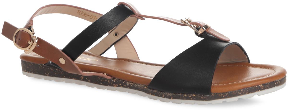 1096-01-1Модные сандалии от Inario не оставят вас равнодушной! Модель изготовлена из искусственной кожи. Подъем оформлен регулируемым ремешком с металлической пряжкой. Стелька из искусственной кожи, оформленная названием бренда, комфортна при движении. Ремешок с металлической пряжкой, застегивающийся при помощи крючка, позволит прочно зафиксировать обувь на вашей ножке. Подошва с протектором обеспечивает идеальное сцепление с любой поверхностью. Стильные сандалии помогут вам создать неповторимый образ.
