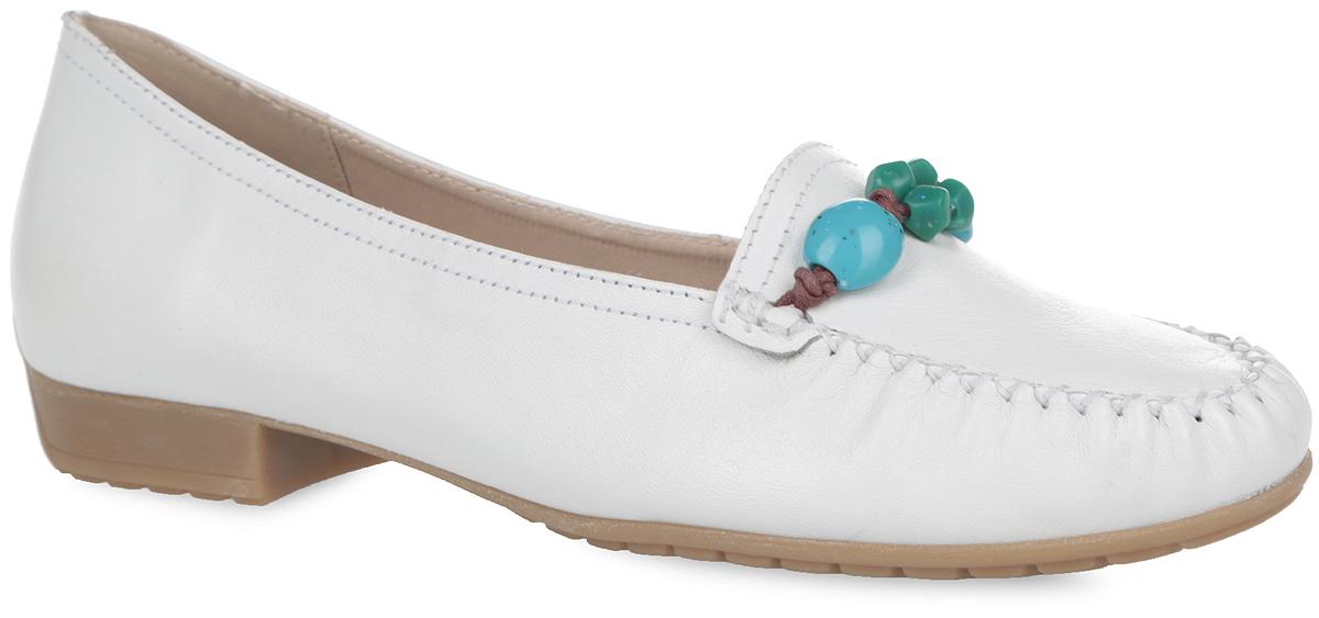 Туфли женские. 9-9-24259-26-1029-9-24259-26-102Стильные туфли от Caprice покорят вас с первого взгляда! Модель выполнена из натуральной кожи. Мыс туфель оформлен декоративным внешним швом и бусинами. Стелька OnAir из материала EVA с поверхностью из натуральной кожи и легкой перфорацией регулирует воздухообмен и гарантирует снижение давления на стопу. Небольшой каблук и подошва с рифлением гарантируют идеальное сцепление с любой поверхностью. Элегантные туфли займут достойное место в вашем гардеробе.