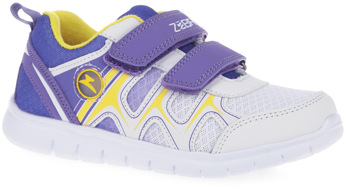 Кроссовки10155-20Модные кроссовки от Зебра очаруют вашу девочку с первого взгляда! Модель изготовлена из сетчатого текстиля и дополнена вставками из искусственной кожи. Ремешки с застежками-липучками, один из которых оформлен названием бренда, надежно зафиксируют модель на ноге. Внутренняя поверхность из текстиля комфортна при движении. Стелька EVA с поверхностью из натуральной кожи разработана с учетом анатомических особенностей строения детской ноги. Анатомическая профилированная стелька с супинатором способствует правильному формированию скелета и анатомических сводов детской стопы, правильной установке пятки ребенка, предотвращая плоскостопие. Стелька обладает хорошей гибкостью и высокими амортизационными свойствами, снижает общую усталость ног, уменьшает нагрузку на позвоночник, делает ходьбу ребенка легкой, приятной и комфортной. Ярлычок на заднике облегчает обувание модели. Рифление на подошве гарантирует отличное сцепление с любыми поверхностями. Стильные кроссовки займут достойное место в...