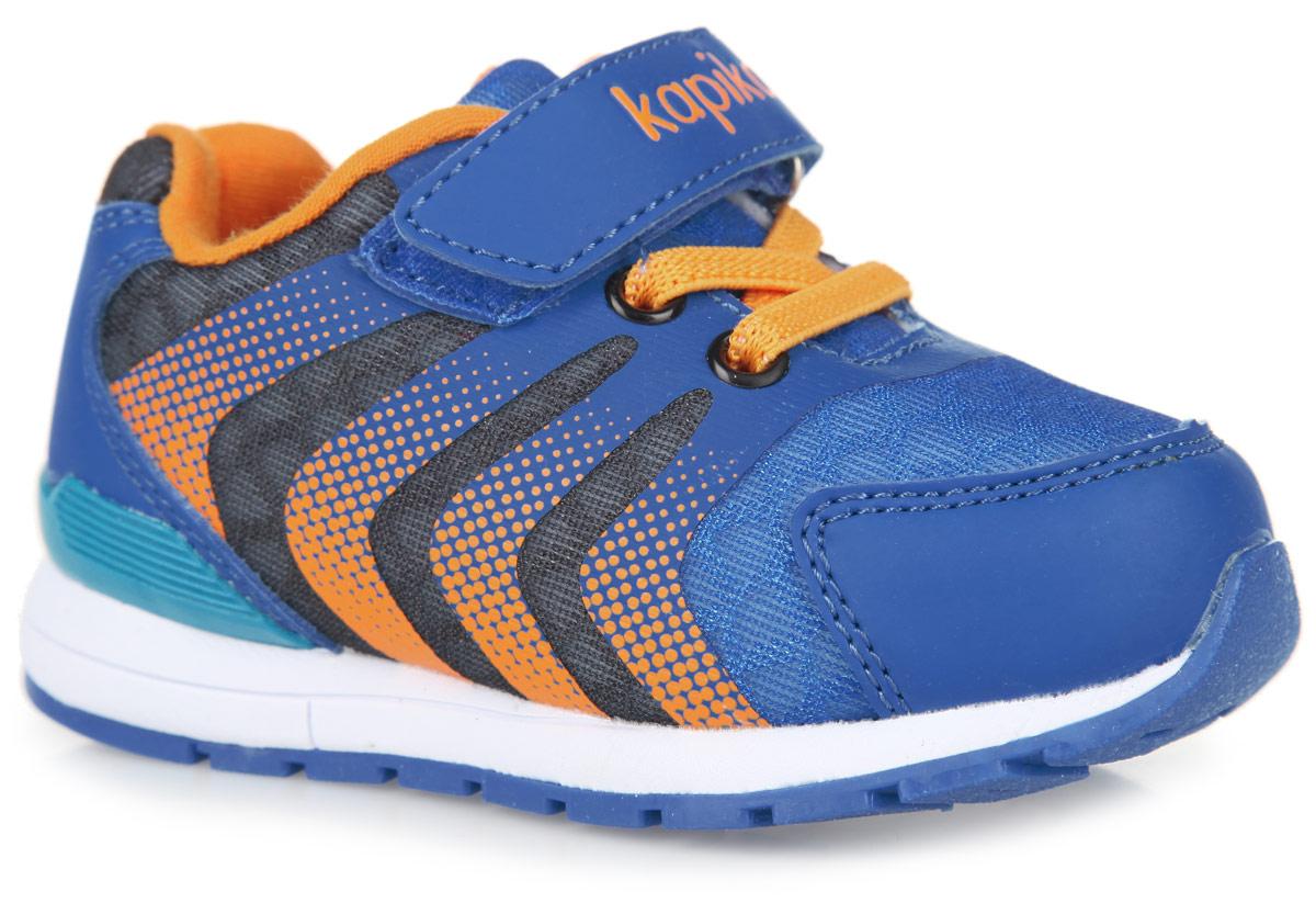 71051-1Модные кроссовки от Kapika заинтересуют вашего мальчика с первого взгляда. Модель, выполненная из текстиля, дополнена вставками из искусственной кожи и бесшовными накладками. Задник оформлен логотипом бренда. Эластичная шнуровка и ремешок с застежкой-липучкой, оформленный фирменным тиснением, надежно фиксируют изделие на ножке. Подкладка, выполненная из хлопка, гарантирует комфорт и предотвращает натирание. Стелька из материала EVA с поверхностью из натуральной кожи гарантирует комфортный микроклимат внутри обуви, обеспечивает поглощение влаги и неприятных запахов. Анатомическая стелька дополнена супинатором с перфорацией, который обеспечивает правильное положение ноги ребенка при ходьбе, предотвращает плоскостопие. Облегченная подошва из EVA-материала, дополненная вставками из ТЭП, оснащена рифлением, которое гарантирует идеальное сцепление с любой поверхностью. Такие кроссовки займут достойное место среди спортивной обуви вашего мальчика.
