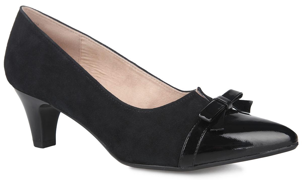 Туфли женские. 9-9-22402-26-0249-9-22402-26-024Стильные туфли от Caprice покорят вас с первого взгляда! Модель выполнена из натуральной и искусственной кожи. Заостренный носок смотрится невероятно женственно. Подъем оформлен декоративной прорезью, мыс - декоративным бантиком. Стелька из материала EVA с поверхностью из натуральной кожи гарантируют комфорт при движении. Небольшой каблук и подошва с рифлением гарантируют идеальное сцепление с любой поверхностью. Элегантные туфли займут достойное место в вашем гардеробе.