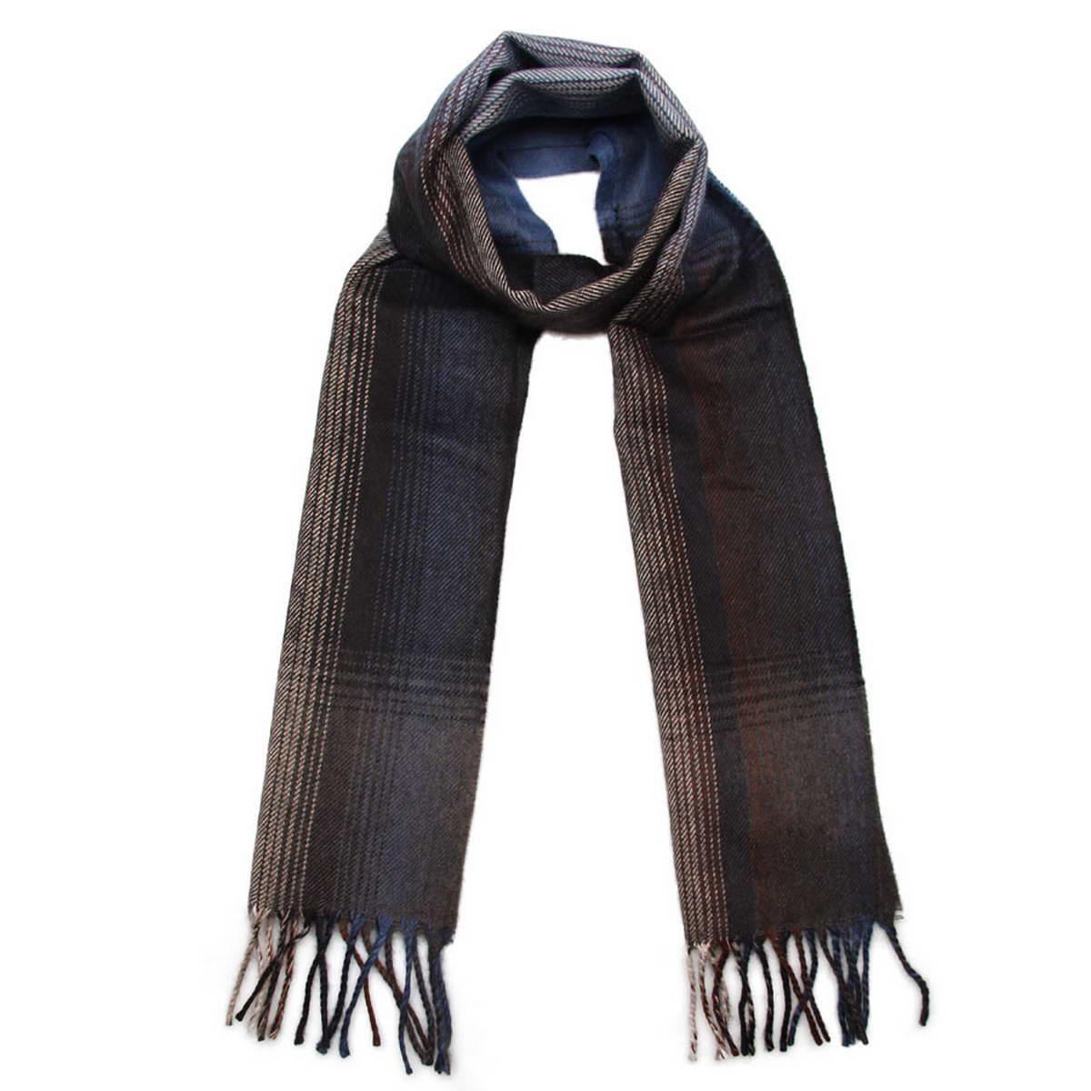 Шарф мужской. 5002832-25002832-2Элегантный мужской шарф Venera согреет вас в холодное время года, а также станет изысканным аксессуаром, который призван подчеркнуть ваш стиль и индивидуальность. Оригинальный теплый шарф выполнен из высококачественной пряжи на основе шерсти с добавлением акрила. Шарф оформлен узором в полоску и дополнен жгутиками по краю. Такой шарф станет превосходным дополнением к любому наряду, защитит вас от ветра и холода и позволит вам создать свой неповторимый стиль.