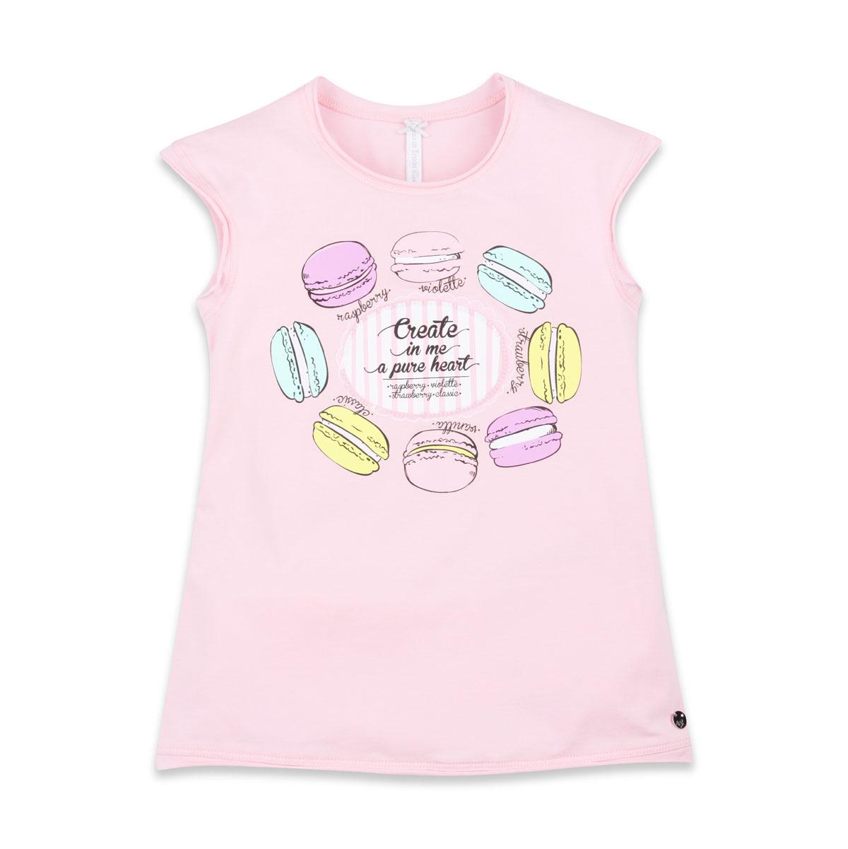 Футболка для девочек. SCFSG-628-24601-411 мод.F5-001SCFSG-628-24601-411 мод.F5-001