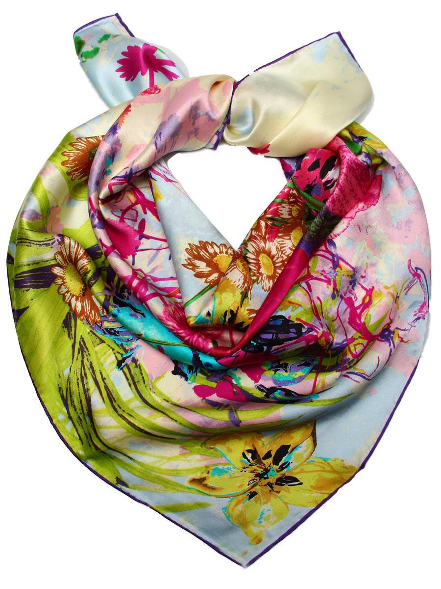 Платок1810612-2Стильный женский платок Venera станет великолепным завершением любого наряда. Платок, изготовленный из 100% шелка, оформлен цветочным принтом. Классическая квадратная форма позволяет носить платок на шее, украшать им прическу или декорировать сумочку. Легкий и приятный на ощупь платок поможет вам создать изысканный женственный образ. Такой платок превосходно дополнит любой наряд и подчеркнет ваш неповторимый вкус и элегантность.