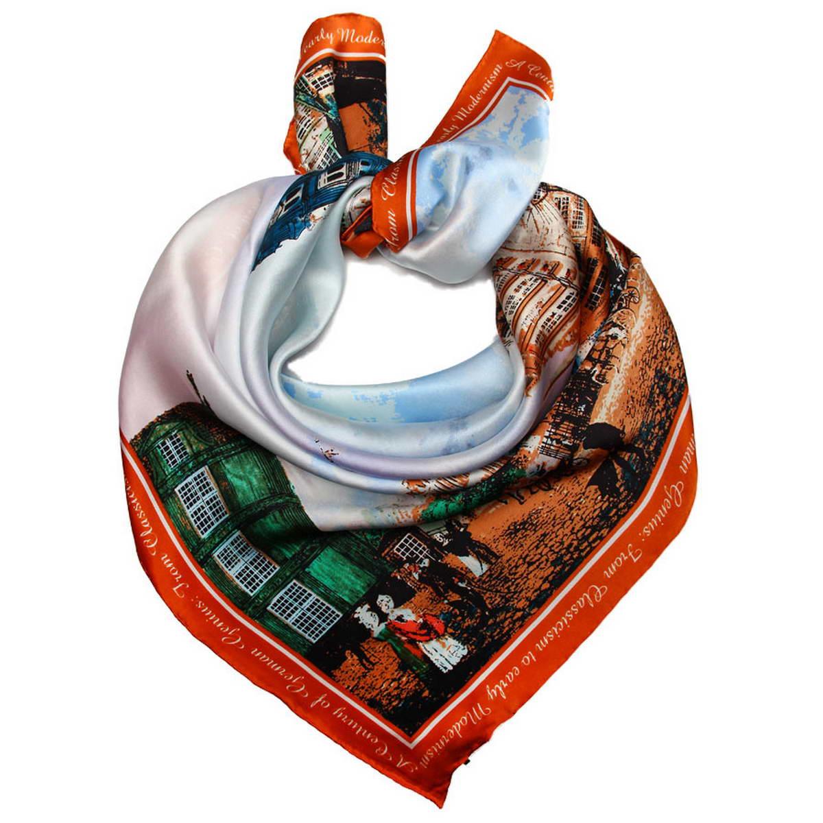 Платок женский. 18108121810812-1Нежный шелковый платок Venera станет нарядным аксессуаром, который призван подчеркнуть индивидуальность и очарование женщины. Оригинальный дизайн полотна с изображением города придаст вашему образу хорошего настроения и привлечёт всеобщее внимание. Края платка качественно обработаны вручную. Этот модный аксессуар женского гардероба гармонично дополнит образ современной женщины, следящей за своим имиджем и стремящейся всегда оставаться стильной и элегантной.