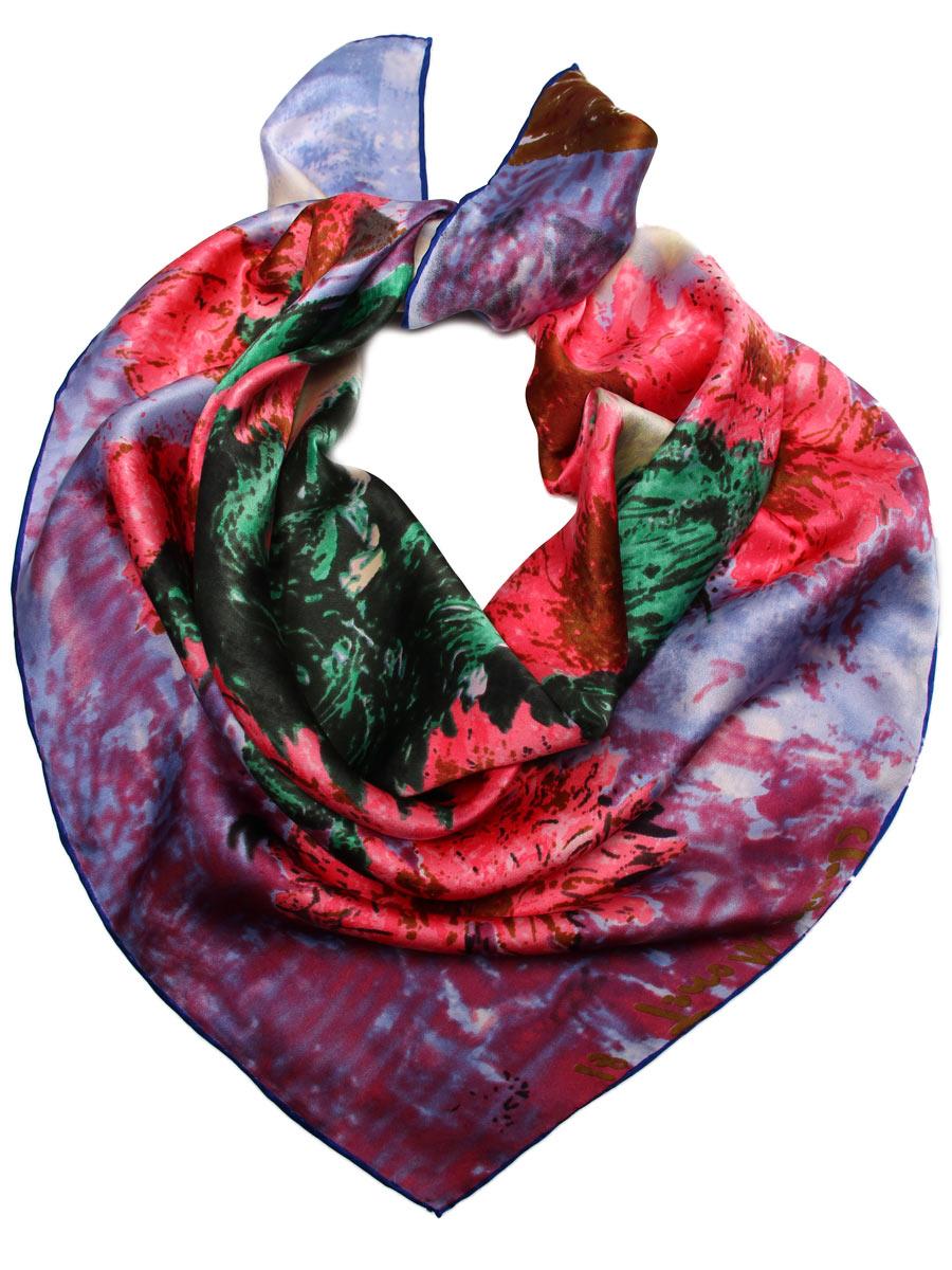 Платок1810912-4Стильный женский платок Venera станет великолепным завершением любого наряда. Платок изготовлен из высококачественного 100% шелка и оформлен стилизованным изображением букета цветов в вазе. Классическая квадратная форма позволяет носить платок на шее, украшать им прическу или декорировать сумочку. Легкий, мягкий и шелковистый платок поможет вам создать изысканный женственный образ, а также согреет в непогоду. Такой платок превосходно дополнит любой наряд и подчеркнет ваш неповторимый вкус и элегантность.