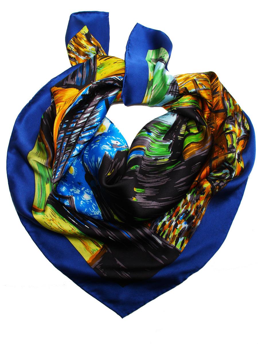 1810912-7Стильный женский платок Venera станет великолепным завершением любого наряда. Платок изготовлен из высококачественного 100% шелка и оформлен красочным принтом с изображением картины Ван Гога Ночное кафе в Арле. Классическая квадратная форма позволяет носить платок на шее, украшать им прическу или декорировать сумочку. Легкий, мягкий и шелковистый платок поможет вам создать изысканный женственный образ, а также согреет в непогоду. Такой платок превосходно дополнит любой наряд и подчеркнет ваш неповторимый вкус и элегантность.