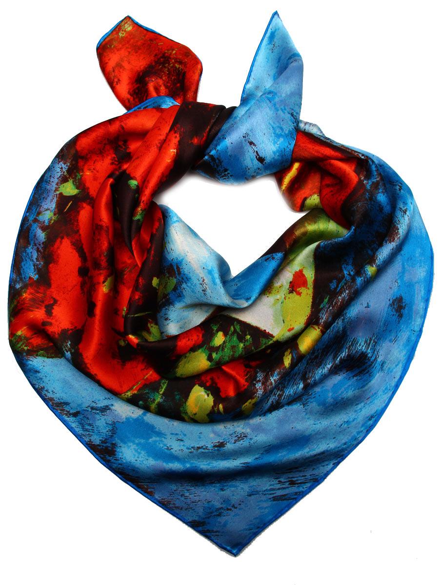 Платок1810912-14Стильный женский платок Venera станет великолепным завершением любого наряда. Платок изготовлен из высококачественного 100% шелка и оформлен изображением знаменитой картина Ван Гога Маки. Изысканный принт подчеркнет безупречность вашего наряда и непременно вызовет восторг окружаюющих. Классическая квадратная форма позволяет носить платок на шее, украшать им прическу или декорировать сумочку. Легкий, мягкий и шелковистый платок поможет вам создать изысканный женственный образ, а также согреет в непогоду. Такой платок превосходно дополнит любой наряд и подчеркнет ваш неповторимый вкус и элегантность.