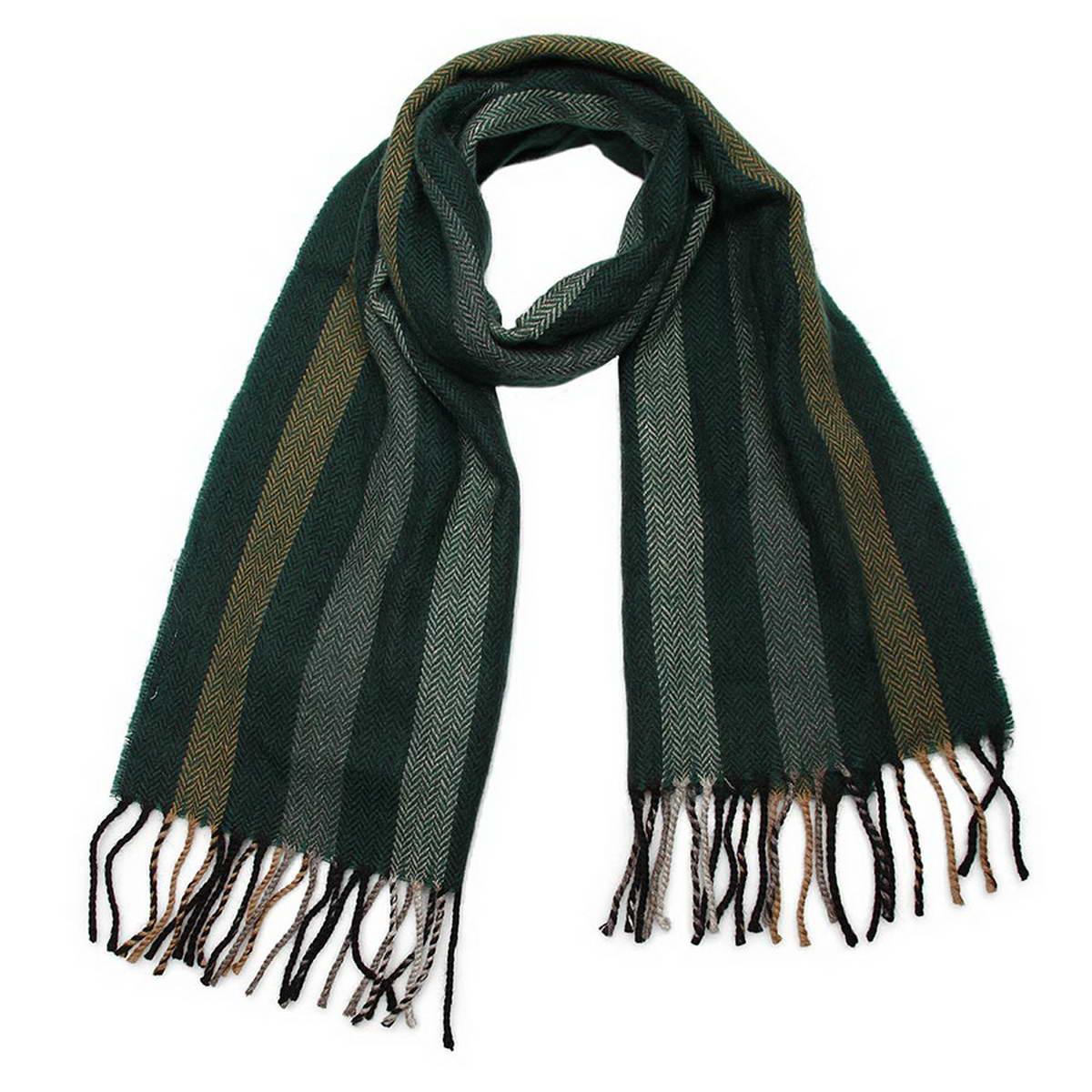 Шарф мужской. 5001432-175001432-17Классический мужской шарф из 100% шерсти с ненавязчивым рисунком в полоску.Достойный аксессуар для мужчины любого возраста.