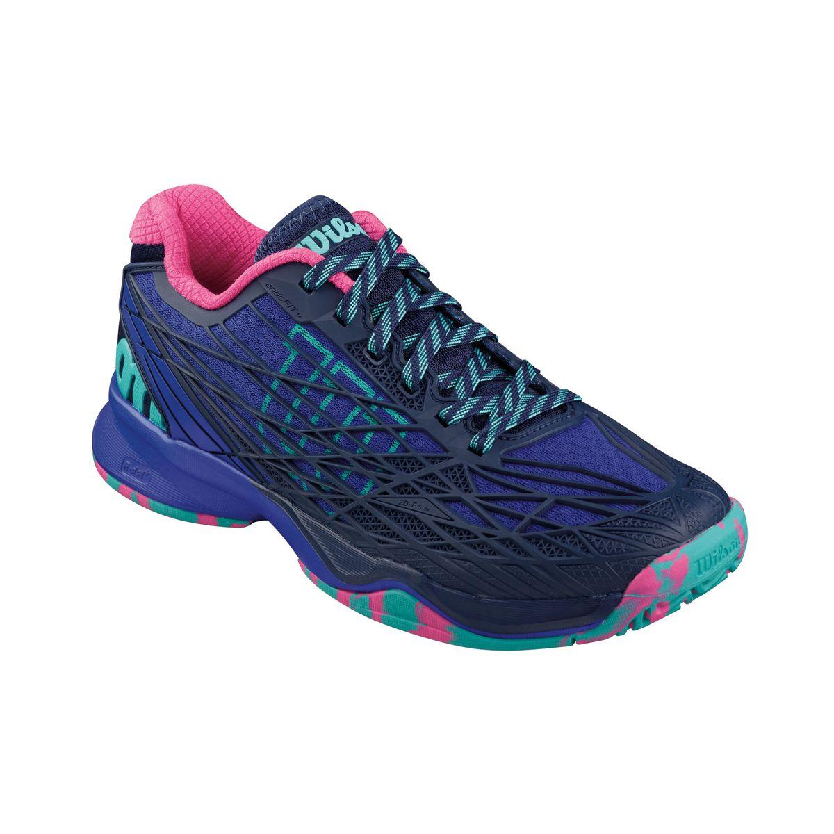 Кроссовки для тенниса жен. KAOS. WRS321290WRS321290Продукт года. Серия KAOS - это стильный дизайн. Легкий вес. Обеспечение комфорта на самых быстрых скоростях в современном теннисе.