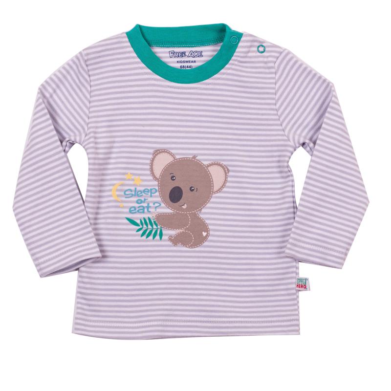 Фуфайка (футболка) длинный рукав для мальчика. ZBB 03185-GYZBB 03185-GYУдобная кофта для мальчика с длинным руковом