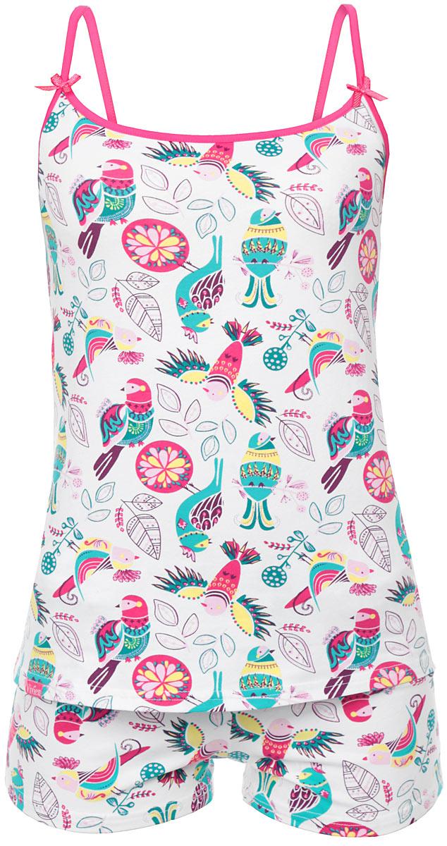 AW15-UAT-LST-458 love isМягкая, комфортная пижама Vivien, состоящая из майки и шорт - важнейший атрибут полноценного отдыха. Уютная майка свободного кроя на тоненьких лямках дополнена оригинальными бантиками. Шорты по линии талии дополнены поясом с широкой резинкой. Весь комплект оформлен оригинальным орнаментом. Все элементы пижамы выполнены из хлопка с добавлением эластана, благодаря чему она необычайно мягкая и приятная на ощупь, не сковывает движения и позволяет коже дышать, не раздражает даже самую нежную и чувствительную кожу, обеспечивая наибольший комфорт. Домашняя одежда играет большую роль в гардеробе женщины, ведь каждой женщине хочется даже дома выглядеть привлекательной. Прекрасный вариант домашней одежды этот замечательный костюм. В таком костюме каждая женщина будет чувствовать себя уютно и комфортно!