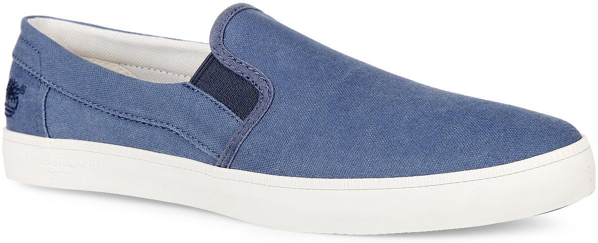 TBLA14VGMМодные мужские слипоны Canvas Plain Toe Slip-On от Timberland заинтересуют вас своим дизайном с первого взгляда! Модель, изготовленная из 100% хлопка, оформлена вышивкой в виде логотипа бренда. Эластичные вставки по бокам обеспечивают идеальную посадку модели на ноге. Стелька из материала EVA с текстильной поверхностью обеспечивает максимальный комфорт при движении. Рифление на подошве гарантирует идеальное сцепление с поверхностью. Стильные слипоны займут достойное место в вашем гардеробе.
