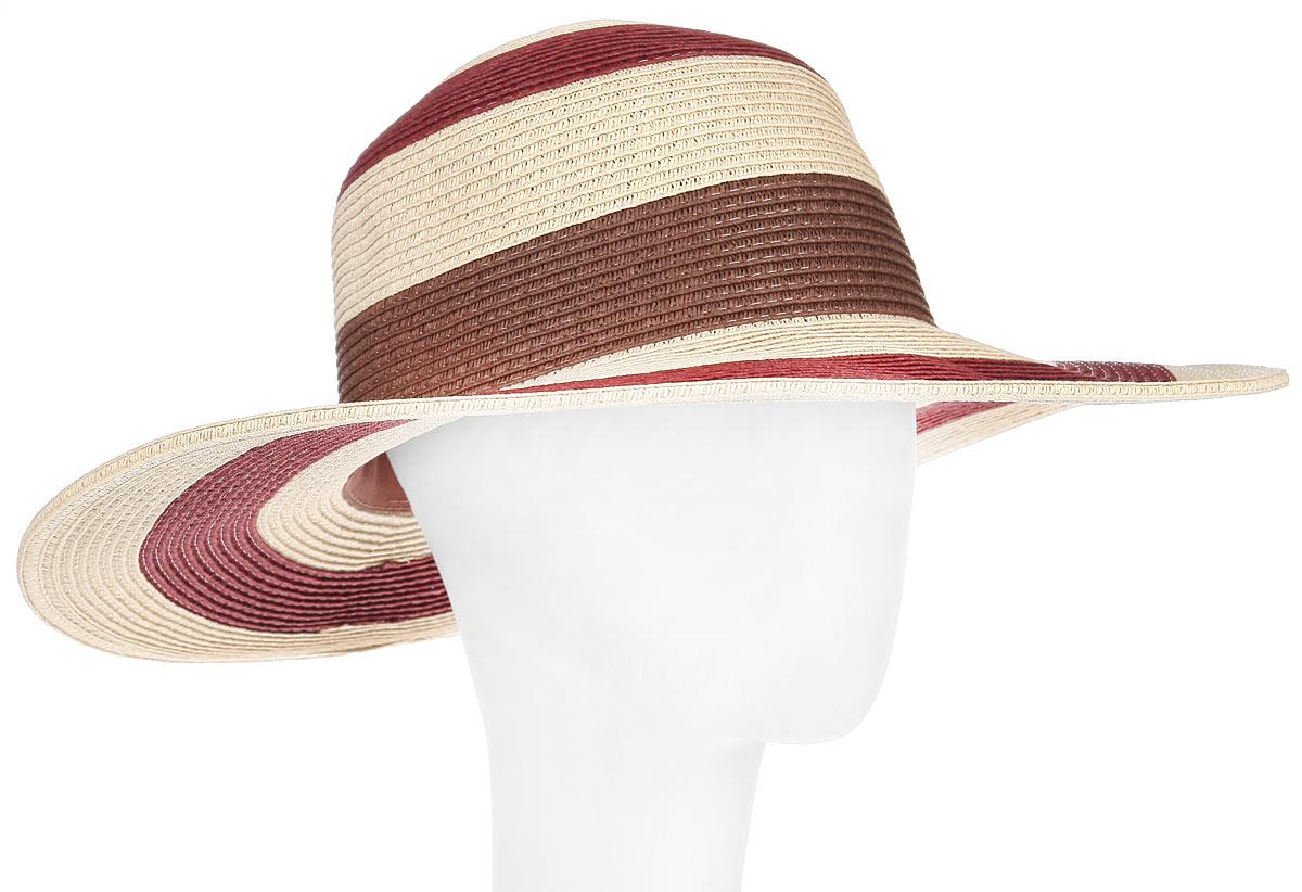 Шляпа1966080Летняя женская шляпа Canoe Bahamian, выполненная из искусственной соломы и прочного полиэстера, станет незаменимым аксессуаром для пляжа и отдыха на природе. Широкие поля шляпы обеспечат надежную защиту от солнечных лучей. Плетение шляпы обеспечивает необходимую вентиляцию и комфорт даже в самый знойный день. Шляпа легко восстанавливает свою форму после сжатия. Стильная шляпа с элегантными волнистыми полями подчеркнет вашу неповторимость и дополнит ваш повседневный образ.