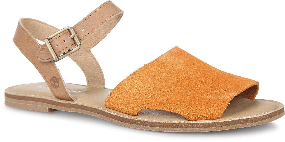 Сандалии женские Sheafe Y-Strap Sandal. TBLA14WTBLA14W4MМодные сандалии Sheafe Y-Strap Sandal от Timberland не оставят вас равнодушной! Модель изготовлена из натуральной кожи. Ремешок с металлической пряжкой позволит прочно зафиксировать обувь на вашей ножке. Стелька из натуральной кожи, оформленная названием бренда и крупной прострочкой, комфортна при движении. Подошва обеспечивает идеальное сцепление с любой поверхностью. Стильные сандалии помогут вам создать неповторимый образ.