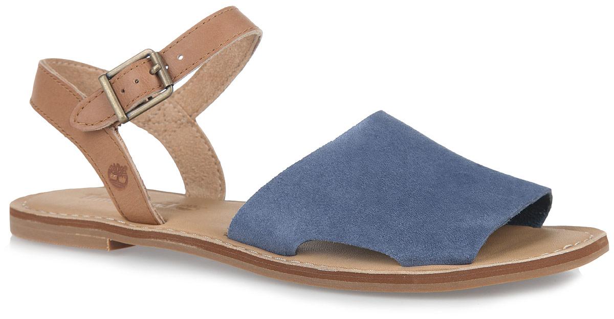 TBLA14W4MМодные сандалии Sheafe Y-Strap Sandal от Timberland не оставят вас равнодушной! Модель изготовлена из натуральной кожи. Ремешок с металлической пряжкой позволит прочно зафиксировать обувь на вашей ножке. Стелька из натуральной кожи, оформленная названием бренда и крупной прострочкой, комфортна при движении. Подошва обеспечивает идеальное сцепление с любой поверхностью. Стильные сандалии помогут вам создать неповторимый образ.